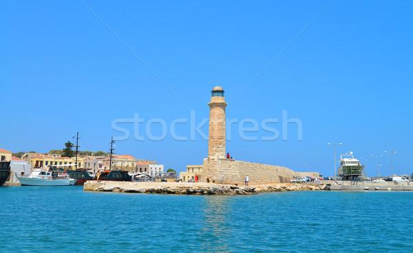 Rethymno lighthouse landmark Stock photo © tony4urban