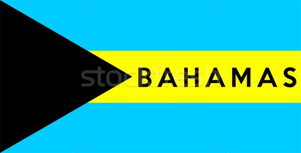 Bandeira Bahamas grande tamanho ilustração país Foto stock © tony4urban