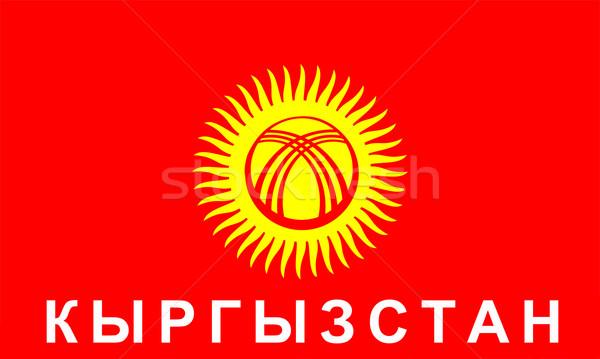 Bayrak Kırgızistan büyük boyut örnek ülke Stok fotoğraf © tony4urban