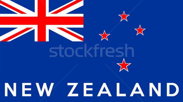 флаг Новая Зеландия большой размер иллюстрация стране Сток-фото © tony4urban