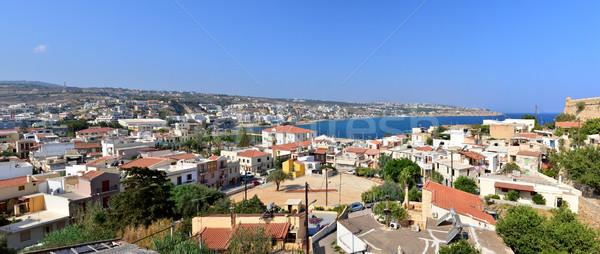 Város panoráma Görögország kilátás tengerpart tenger Stock fotó © tony4urban