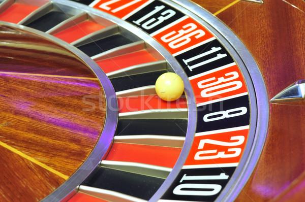 Rulettkerék kép kaszinó labda szám 30 Stock fotó © tony4urban