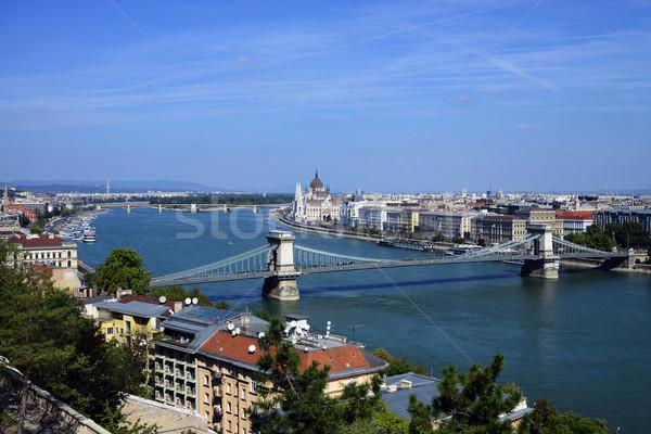 ブダペスト 議会 建物 市 ハンガリー チェーン ストックフォト © tony4urban