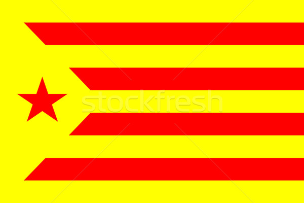 catalan nationalist flag Stock photo © tony4urban