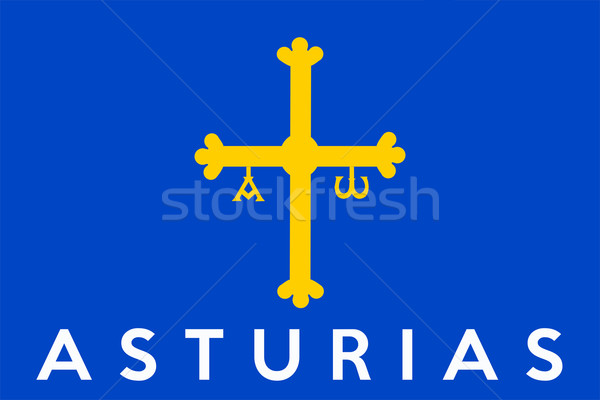 flag of asturias Stock photo © tony4urban