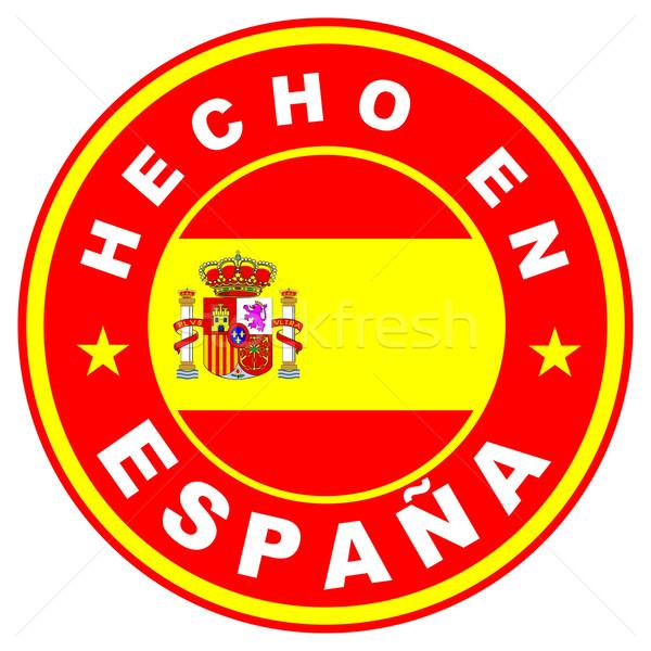 hecho en espana Stock photo © tony4urban