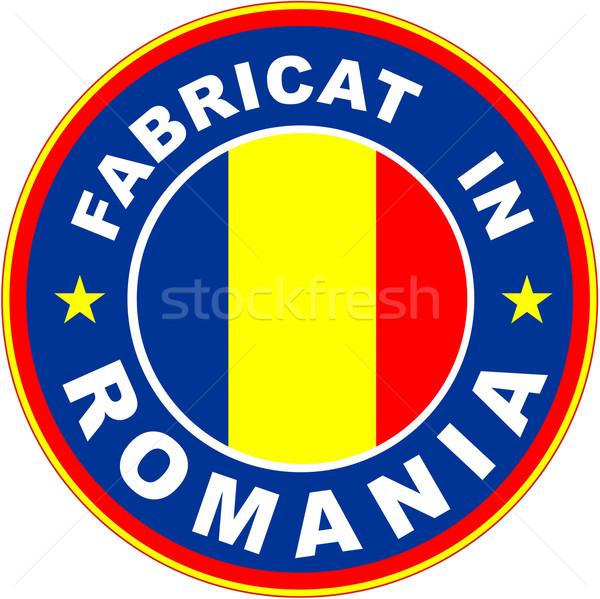 Rumunia banderą produktu etykiety rumuński język Zdjęcia stock © tony4urban