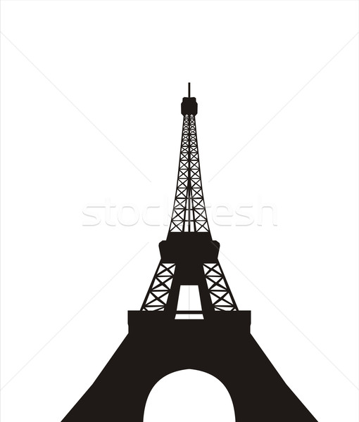 Tour Eiffel grand taille noir silhouette illustration Photo stock © tony4urban
