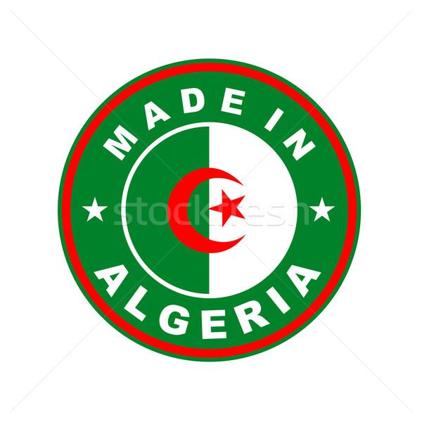 Алжир большой размер стране Label Сток-фото © tony4urban
