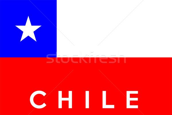 Bandera Chile grande tamaño ilustración país Foto stock © tony4urban