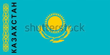 Vlag Kazachstan groot maat illustratie land Stockfoto © tony4urban