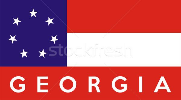 Georgia bandiera illustrazione USA banner Foto d'archivio © tony4urban