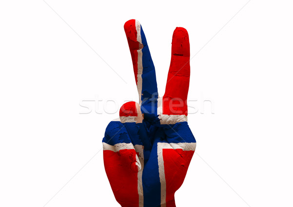 Hand teken land vlag geschilderd Stockfoto © tony4urban