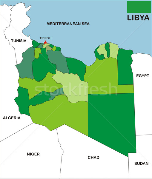 libya map Stock photo © tony4urban