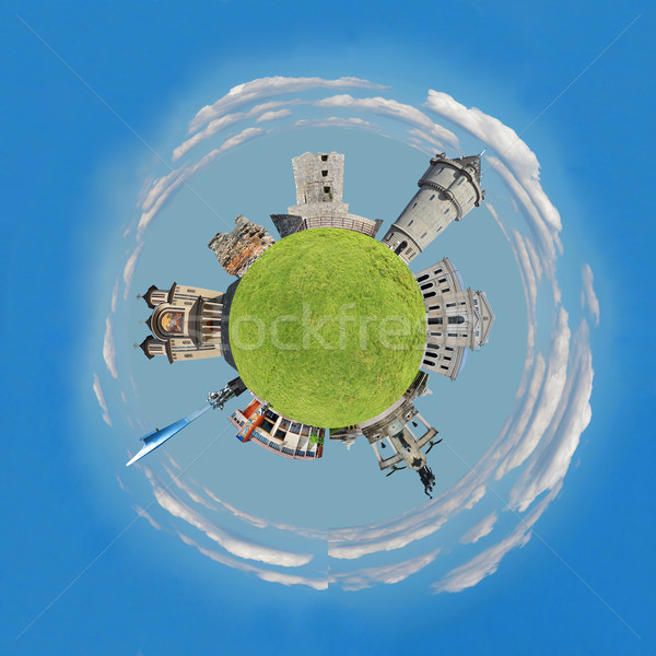 Planeet stad Stockfoto © tony4urban