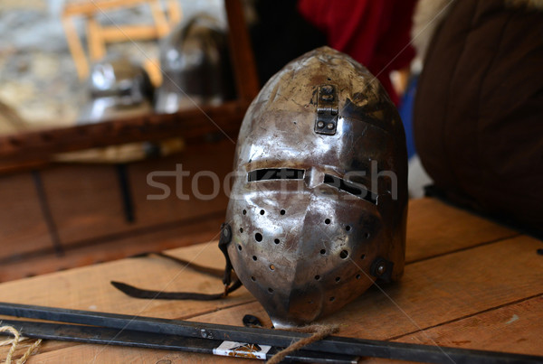 medieval metal helmet Stock photo © tony4urban