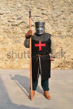 Mittelalterlichen isoliert Festival Ritter Krieger Mann Stock foto © tony4urban