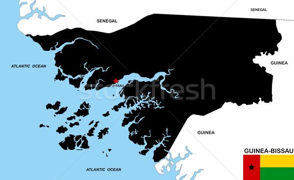guinea bissau map Stock photo © tony4urban
