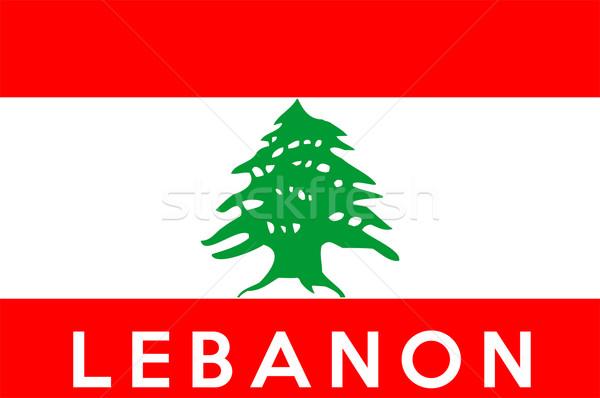 フラグ レバノン ビッグ サイズ 実例 国 ストックフォト © tony4urban