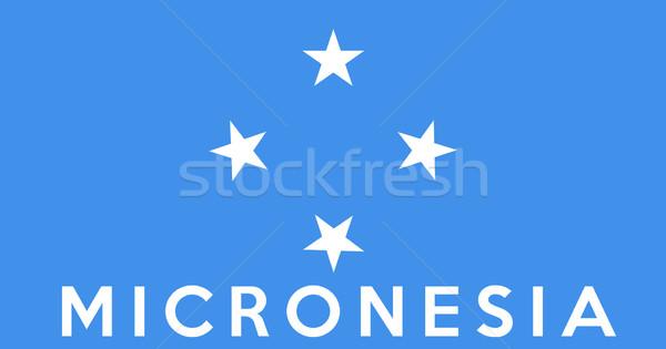 フラグ ミクロネシア ビッグ サイズ 実例 国 ストックフォト © tony4urban