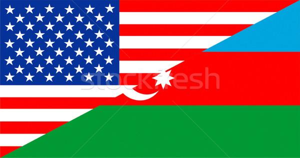 USA Azerbejdżan Stany Zjednoczone Ameryki kraju Zdjęcia stock © tony4urban