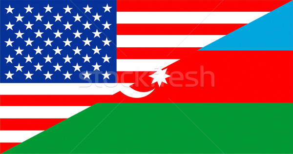 USA Azerbeidzjan Verenigde Staten amerika half land Stockfoto © tony4urban