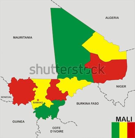 Hungría gay mapa país orgullo bandera Foto stock © tony4urban