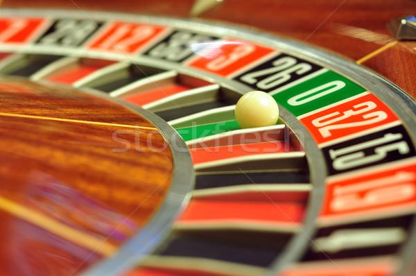 Roulettewiel afbeelding casino bal aantal Stockfoto © tony4urban