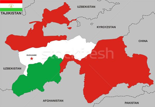 tajikistan map Stock photo © tony4urban