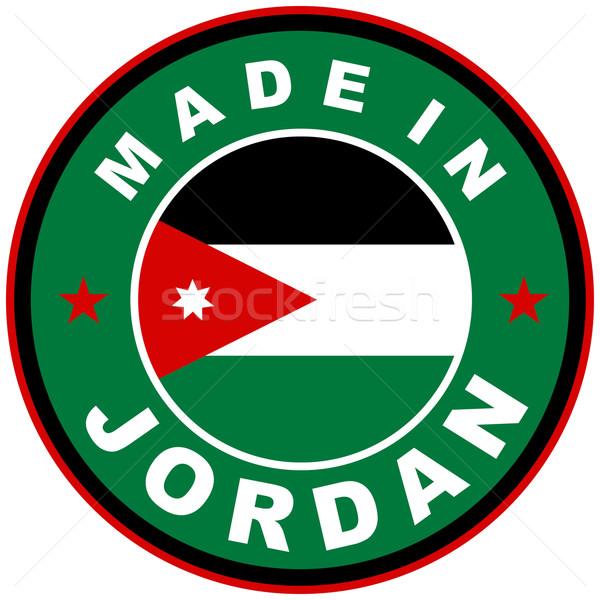 Jordania duży rozmiar kraju etykiety podpisania Zdjęcia stock © tony4urban
