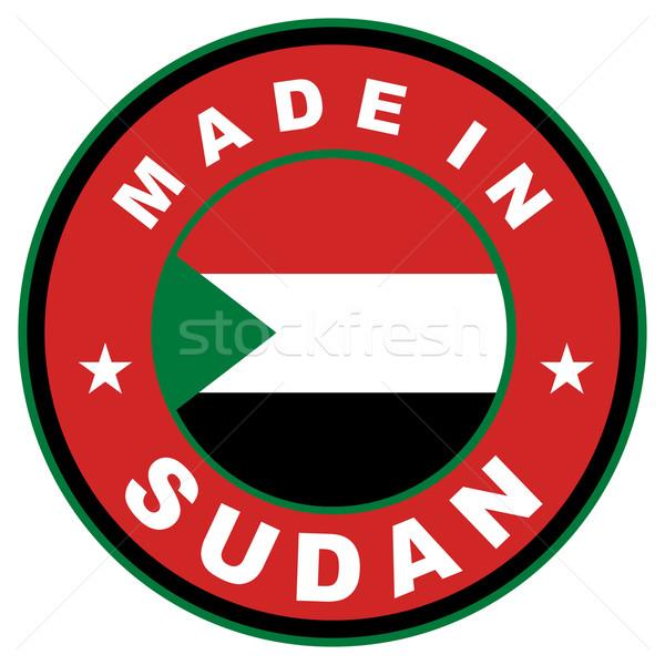 Szudán nagy méret címke zászló vidék Stock fotó © tony4urban