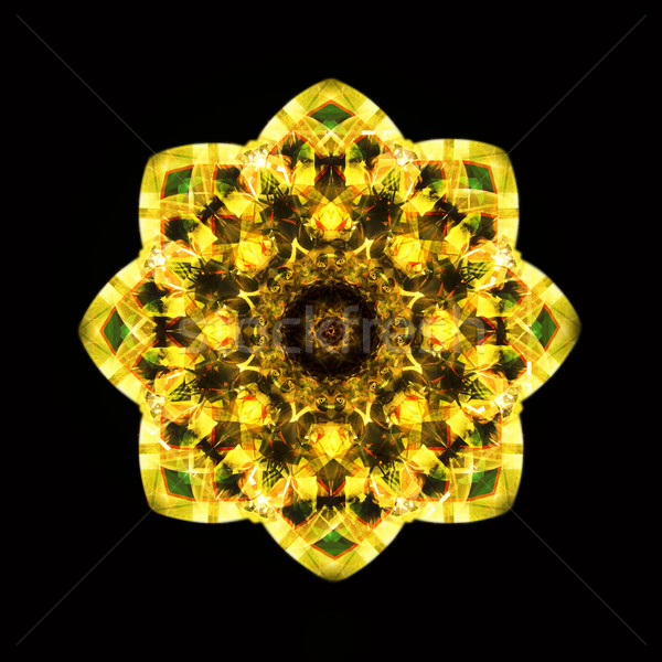 Kaleidoscope yellow Stock photo © tony4urban