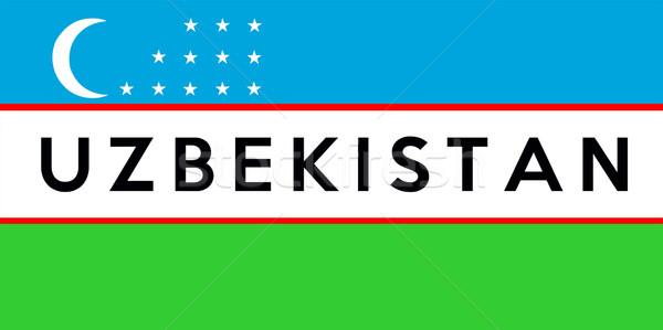 Zászló Üzbegisztán nagy méret illusztráció vidék Stock fotó © tony4urban