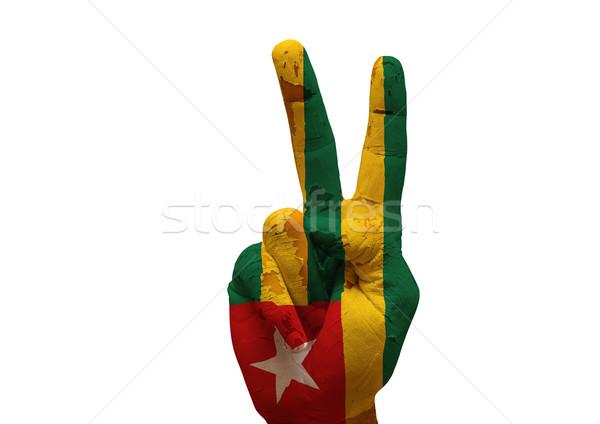 Hand teken grunge geschilderd geïsoleerd Stockfoto © tony4urban