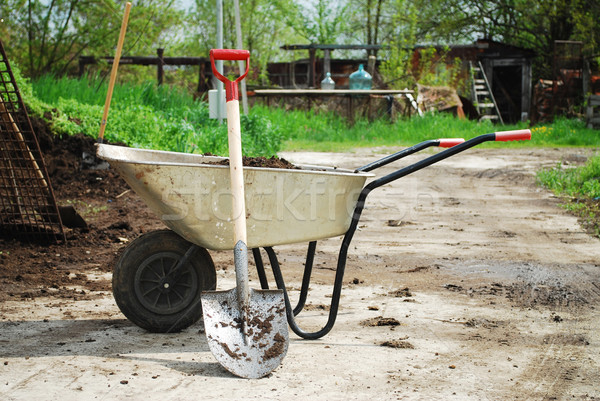 Wheel Barrow Stock photo © tony4urban