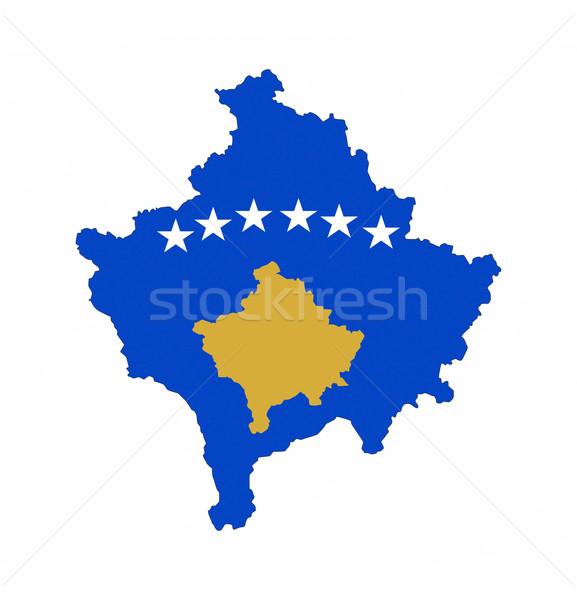 kosovo flag map Stock photo © tony4urban