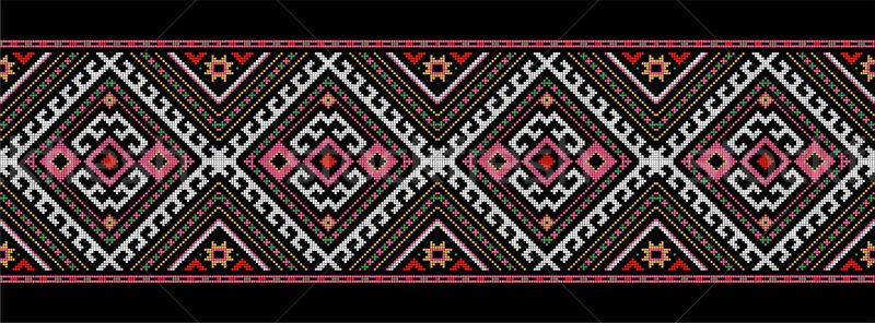 モチーフ ルーマニア語 伝統的な 民族 衣装 モチーフ ストックフォト © tony4urban