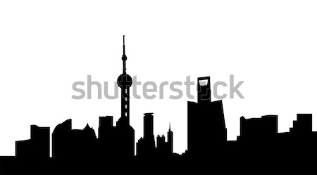 Seattle grand taille silhouette Skyline Photo stock © tony4urban