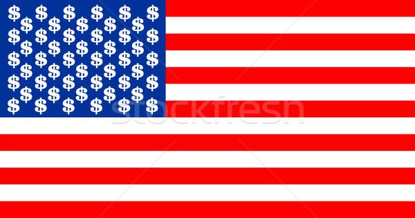 USA dollár zászló Egyesült Államok Amerika vidék Stock fotó © tony4urban