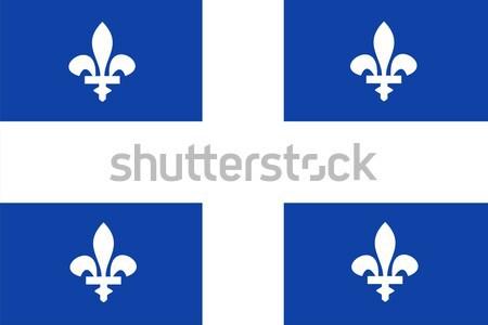 Québec bandiera grande dimensioni illustrazione Foto d'archivio © tony4urban