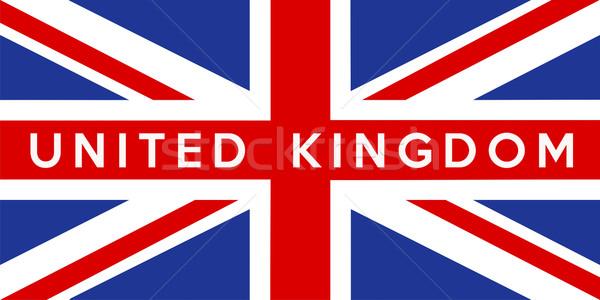 Bandiera Regno Unito grande dimensioni illustrazione paese Foto d'archivio © tony4urban