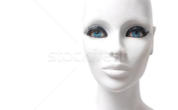 Stockfoto: Etalagepop · witte · gezicht · portret · detail