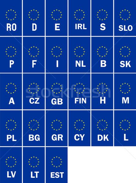 eu car plates Stock photo © tony4urban