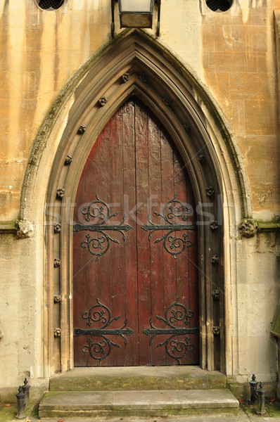 Heath Street Baptist Church door Stock photo © tony4urban