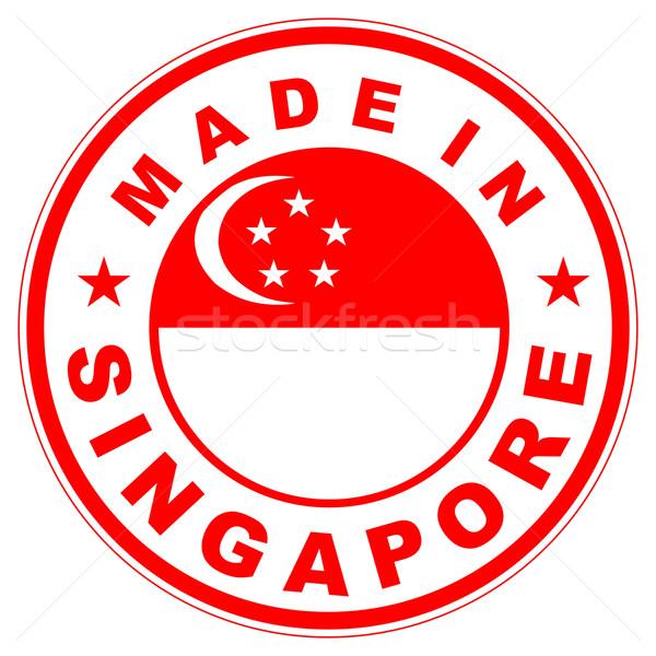 Stok fotoğraf: Singapur · büyük · boyut · etiket · bayrak · ülke