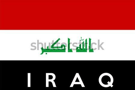 Bandeira Iraque grande tamanho ilustração país Foto stock © tony4urban