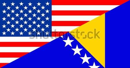 EUA Venezuela Estados Unidos américa metade país Foto stock © tony4urban