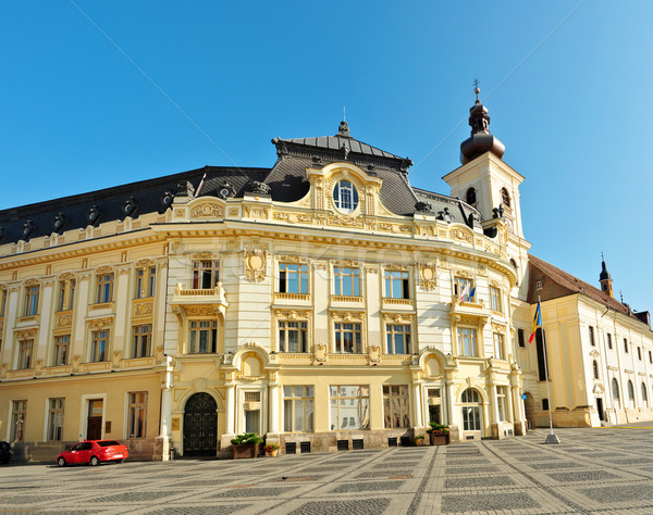 Sibiu city hall facade Stock photo © tony4urban