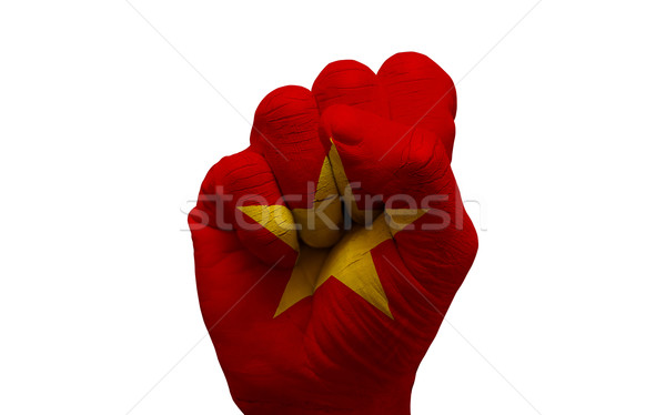 flag fist Stock photo © tony4urban