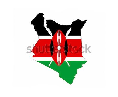 ケニア 国 フラグ 地図 文字 ストックフォト © tony4urban